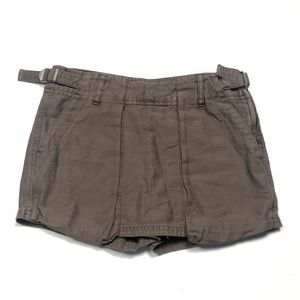 Free People Women's 2 XS Utility Skort Shorts Mini